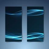 Línea futurista bandera de la fusión azul brillante Foto de archivo