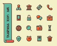 Línea gorda iconos Imagen de archivo libre de regalías