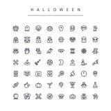Línea iconos de Halloween fijados Imagen de archivo libre de regalías