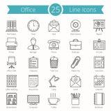 Línea iconos de la oficina Imagen de archivo libre de regalías