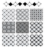 Línea modelo inconsútil determinado de la forma del diamante de la simetría Imagenes de archivo