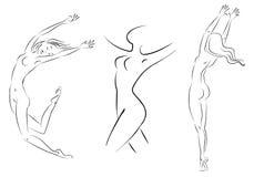 Línea mujer Imagen de archivo