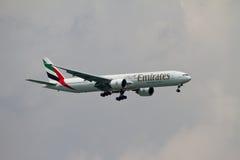 Líneas aéreas de los emiratos Imagen de archivo