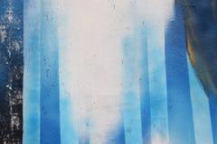 Líneas azules pintadas espray Imagenes de archivo