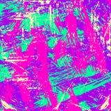 Líneas brillantemente coloreadas pintada en un ejemplo negro del vector del fondo Fotos de archivo