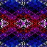Líneas coloreadas brillantes en un modelo inconsútil del fondo negro Imagen de archivo