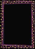 Líneas coloreadas y estrellas Fotografía de archivo
