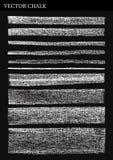 Líneas de tiza del vector Imagenes de archivo
