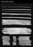 Líneas de tiza del vector Fotos de archivo libres de regalías