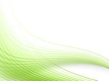 Líneas dinámicas verdes Fotos de archivo libres de regalías