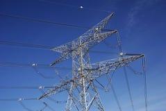 Líneas eléctricas Foto de archivo libre de regalías