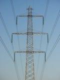 Líneas eléctricas de arriba Fotos de archivo libres de regalías