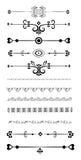 Líneas ornamentales de la regla Foto de archivo