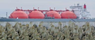 LNG βυτιοφόρο στοκ εικόνες