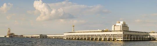 LNG τελικές σύνθετες εγκαταστάσεις για τη μετάδοση και την αποθήκευση lng αερίου Στοκ Φωτογραφίες