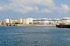 LNG-Becken stockfotos