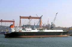 LNG carrier ship for natural g Royalty Free Stock Photos