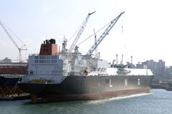 LNG carrier ship for natural g Stock Image