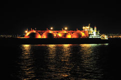 LNG carrier ship for natural gas Stock Image