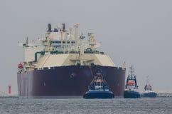 LNG holowniki I tankowiec obrazy royalty free