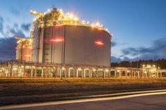 LNG storage tanks, LNG terminal in Swinoujscie, Poland Royalty Free Stock Photography