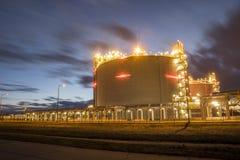 LNG storage tanks, LNG terminal in Swinoujscie, Poland Royalty Free Stock Photo