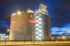 LNG storage tanks, LNG terminal in Swinoujscie, Poland Royalty Free Stock Photos