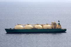 LNG Tanker. Tanker transporting liquefied natural gas at open sea Royalty Free Stock Photos