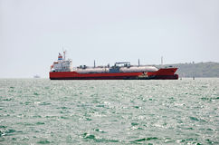 LNG tanker in Kerch Royalty Free Stock Photo