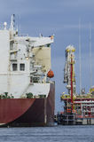LNG TANKER - TERMINAL Stock Photo