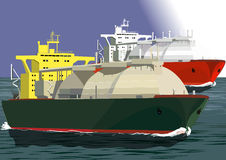 LNG tankers at sea Stock Photography