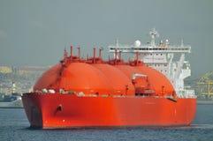 LNG-tankerschip voor aardgas Stock Afbeeldingen