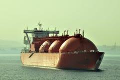 LNG-tankerschip voor aardgas Stock Foto