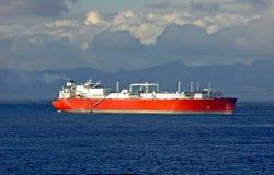 LNG-tankerschip voor natuurlijk g Royalty-vrije Stock Afbeelding