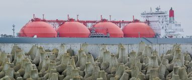 LNG tankowiec zdjęcie stock