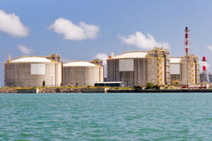 LNG Tanks Stock Photos