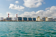 LNG Tanks. At the Port of Barcelona Stock Images
