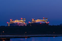 LNG TERMINAL IN SWINOUJSCIE Royalty Free Stock Photos