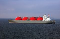 LNG-Trägerlieferung für natürliche G. Lizenzfreie Stockfotografie