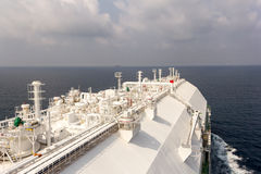 LNG vessel delivers natural gas. Royalty Free Stock Image