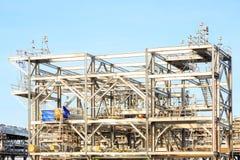LNGraffinaderifabrik arkivbild