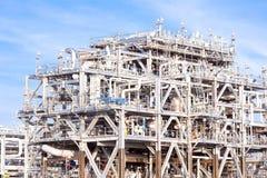 LNGraffinaderifabrik arkivfoton