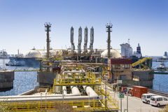 LNGskepp royaltyfri foto