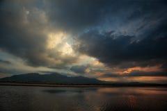 Längst solnedgång Fotografering för Bildbyråer