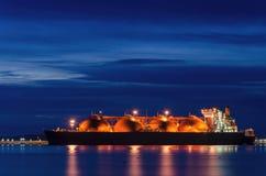 LNGtankfartyg Arkivfoton