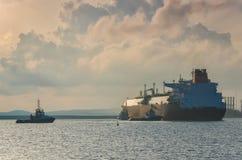LNGtankfartyg fotografering för bildbyråer