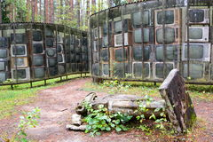 LNK Infotree por Karosas Parkas de Europos vilnius lithuania Imagens de Stock Royalty Free