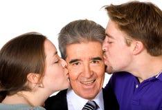 Lo amiamo papà - il giorno di padri Fotografia Stock Libera da Diritti