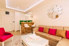 Lo appartamento-studio Appartamenti di progettazione Fotografia Stock Libera da Diritti