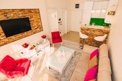 Lo appartamento-studio Appartamenti di progettazione Fotografie Stock